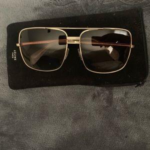 Céline sunglasses 41808 aviator gold frame